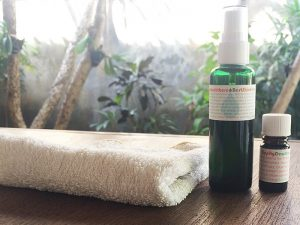 Video and blog review of Living Libations Blemish Bundle including Seabuckthorn Best Skin Ever, Zippity Dew Dab, and wash cloth.