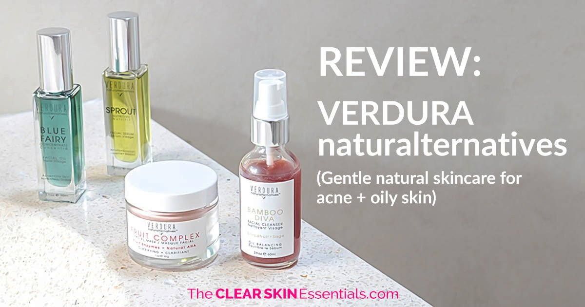Review of VERDURA naturalternatives Bamboo Diva Cleanser, Sprout Serum, Blue Fairy Concentrate Serum and Fruit Complex Mask.