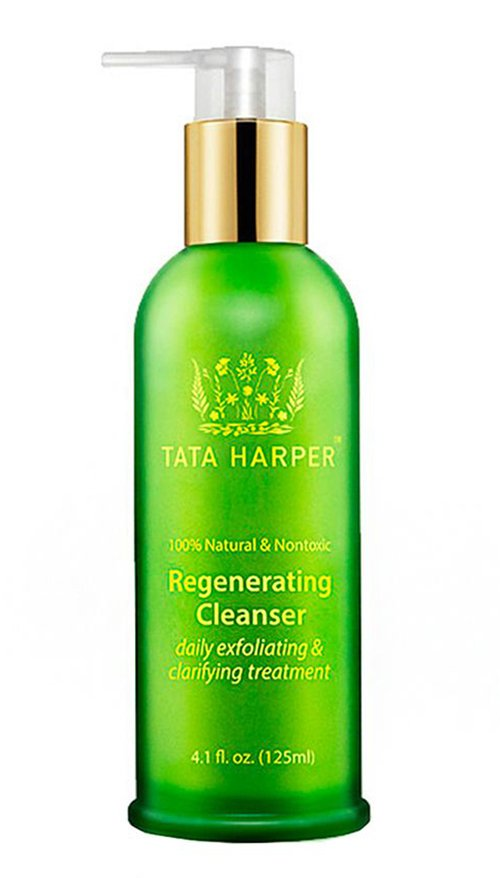 Fade acne scars with exfoliation, try Tata Harper Regenerating Cleanser.