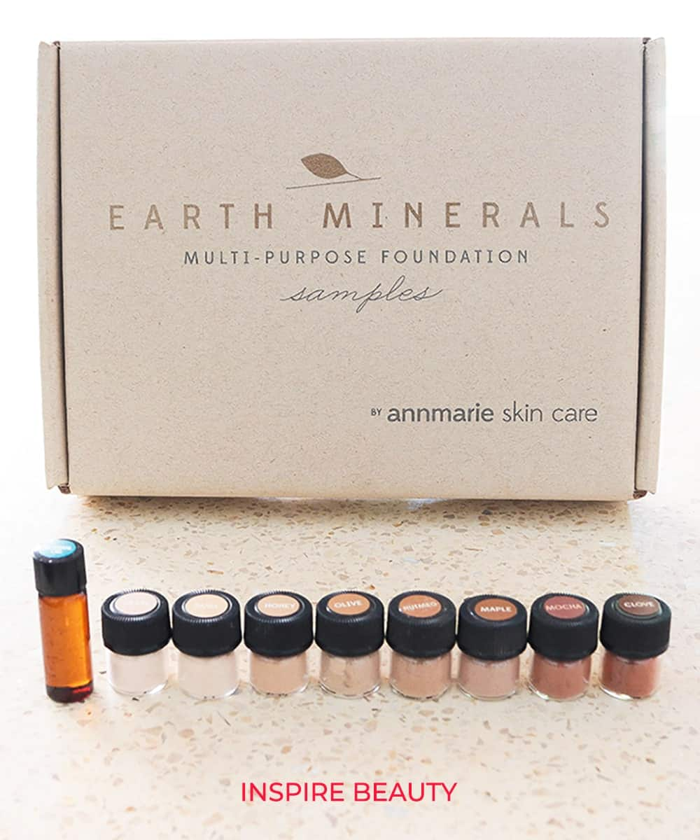 Annmarie Skin Care Minerals Multi Purpose Foundation and sample kit review
