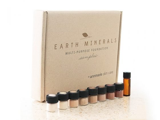 Review of Annmarie Skin Care Minerals Multi Purpose Foundation and sample kit.