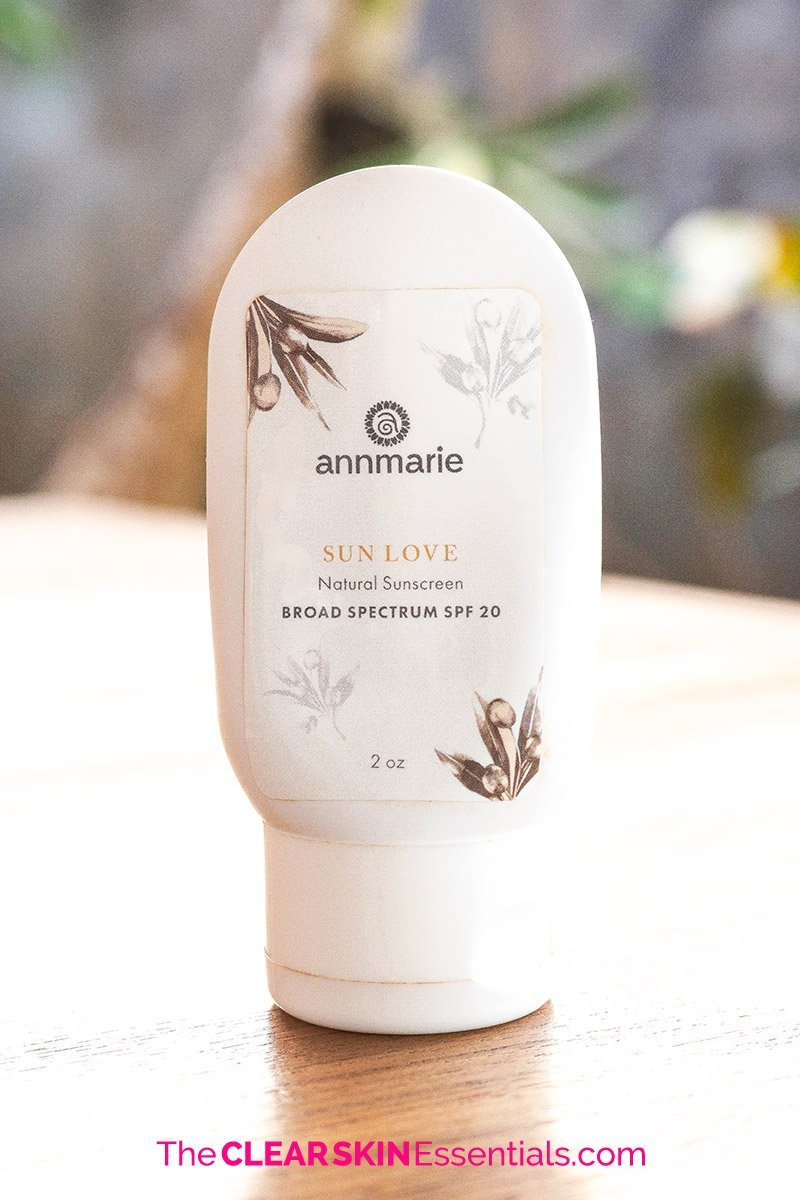 Mineral sunscreen review of Annmarie Skin Care Sun Love.
