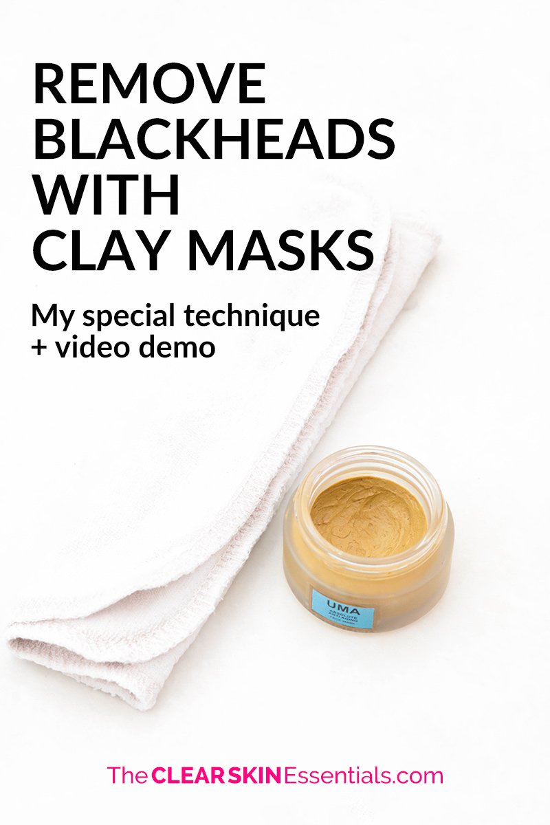 Get rid of blackheads with clay masks, my special technique featuring UMA Absolute Anti-Aging Mask and Grovia Cloth Wipes.