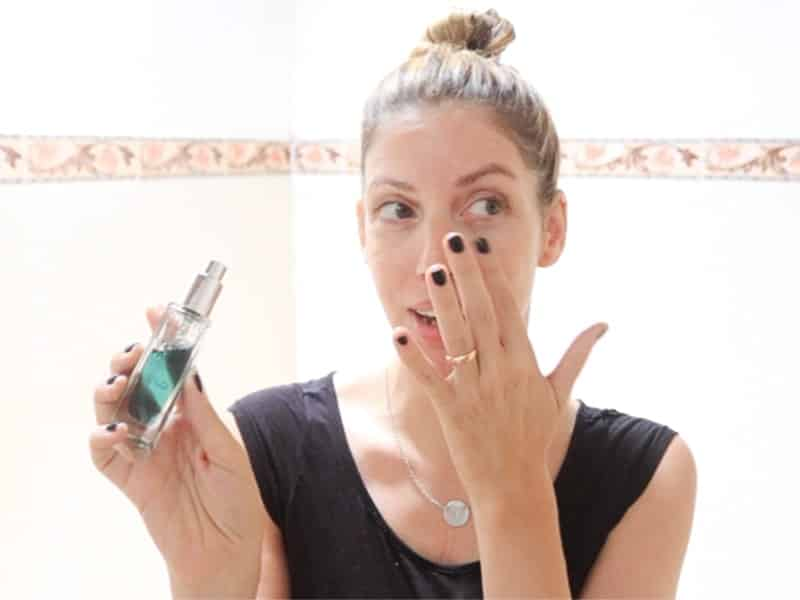 How to use a spot treatment in your skincare routine, featuring VERDURA naturalternatives Blue Fairy Concentrate.