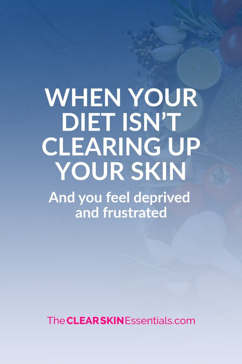 Clear skin diet making you feel deprived? Here's what to do.
