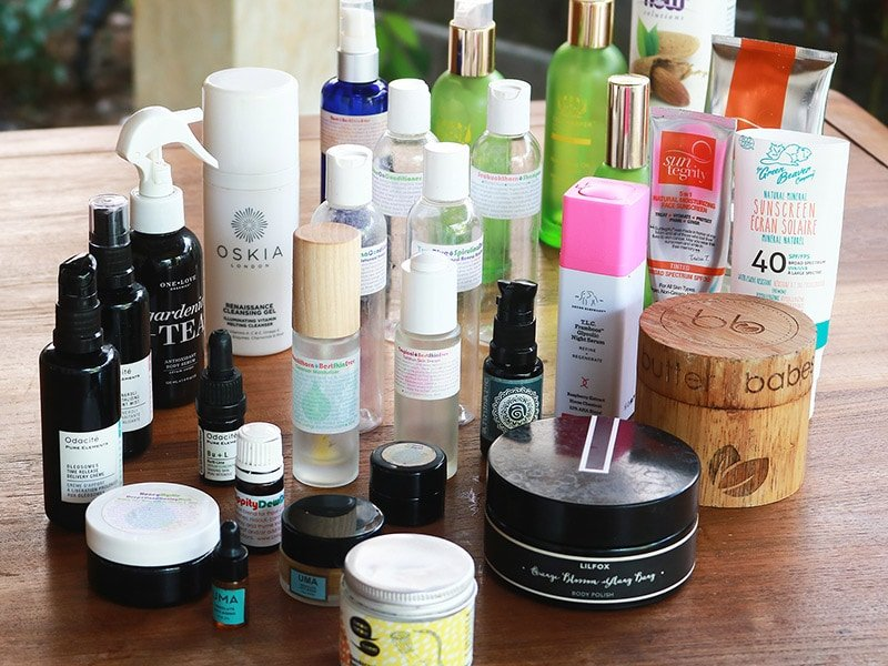 A review of natural skincare and haircare products I used up over the past year. Review features products from Living Libations, Tata Harper, Drunk Elephant, Suntegrity, One Love Organics, Oskia, Annmarie Skin Care.