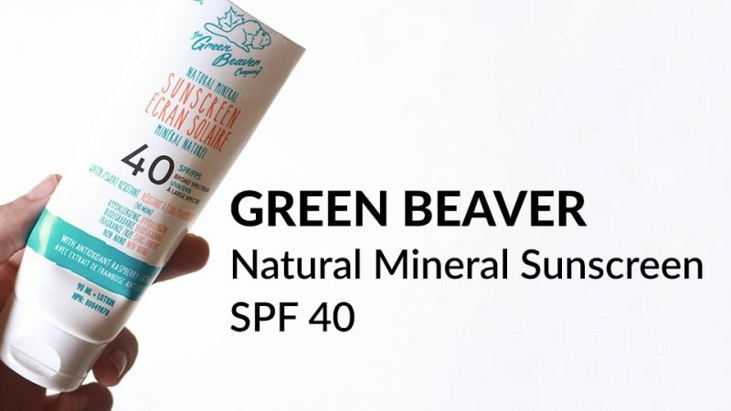 Green Beaver Natural Mineral Sunscreen SPF 40 review.