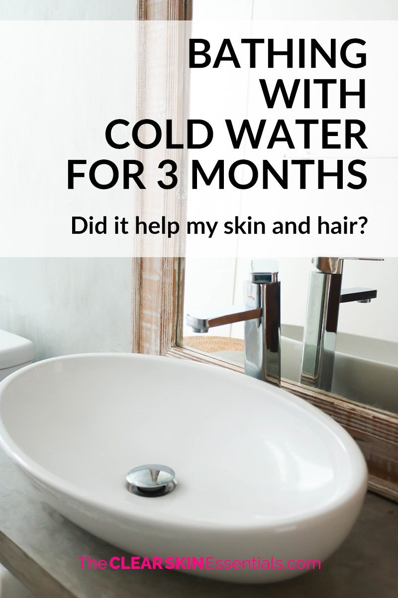 I did an experiment to see if bathing with cold water could benefit your hair and skin.