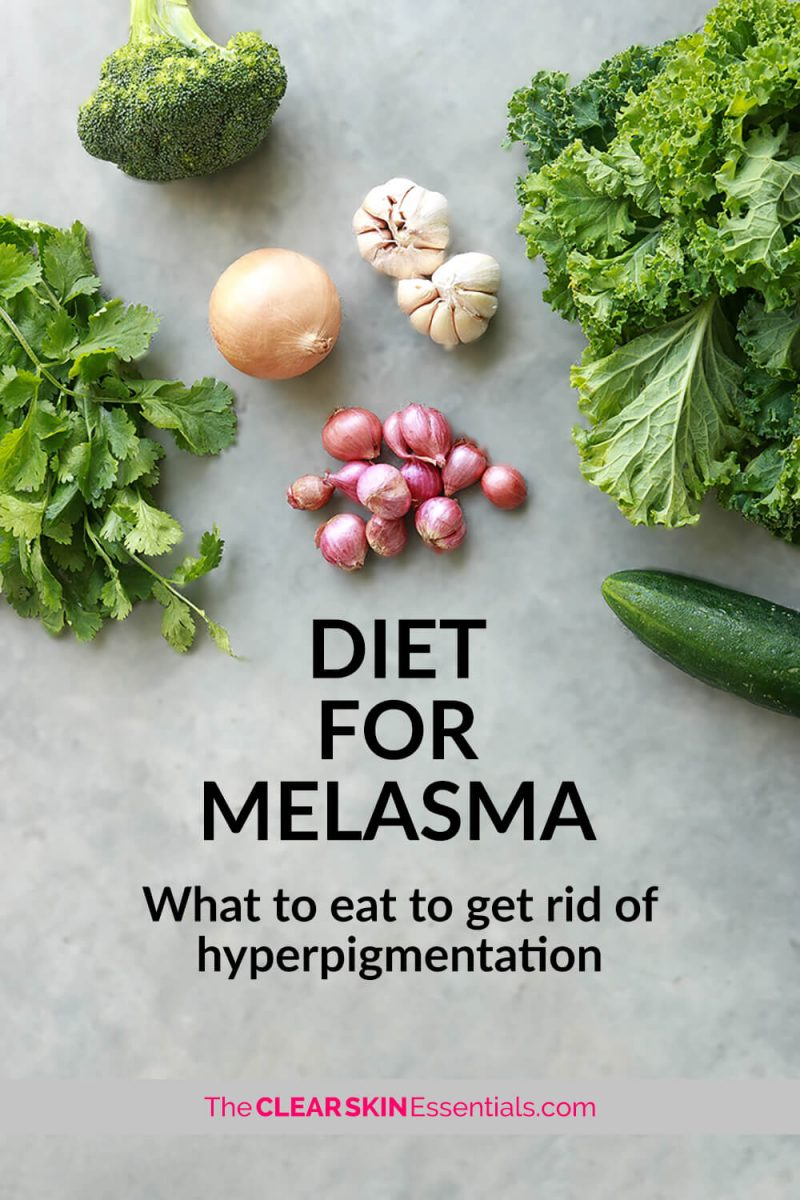 How to cure melasma from the inside by improving your diet