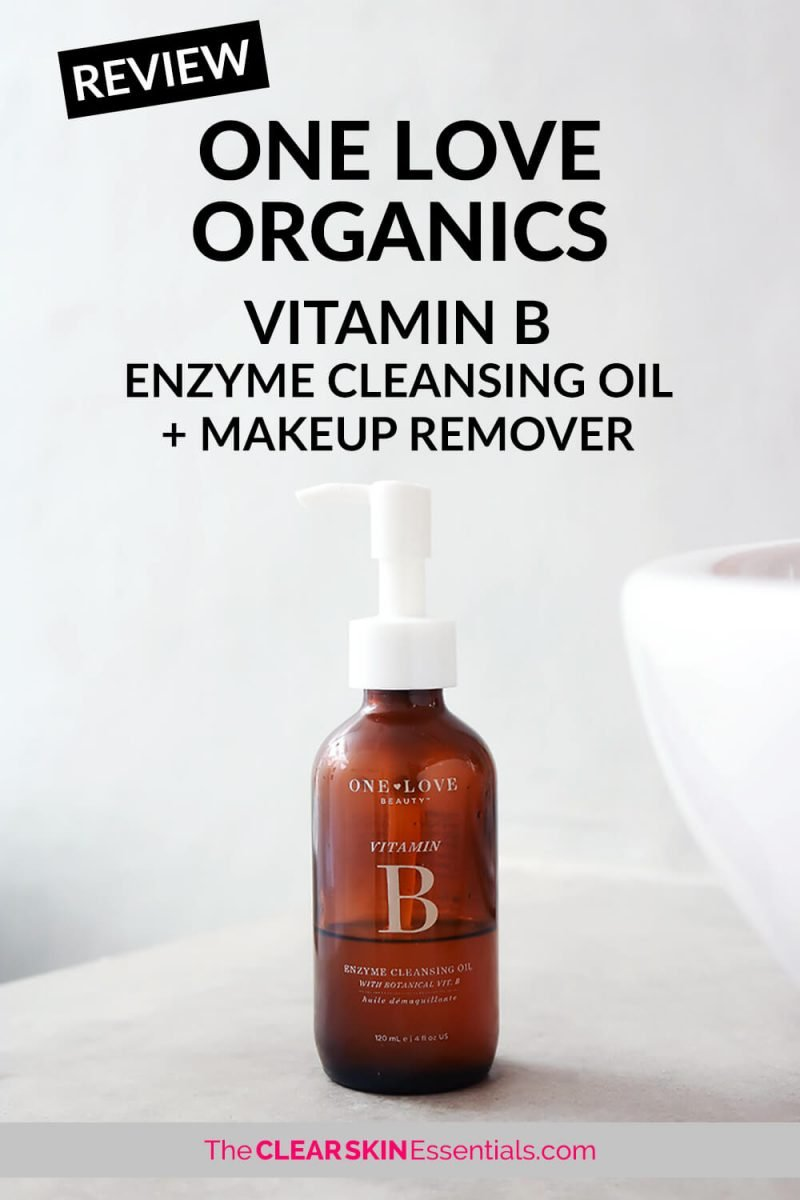 One Love Organics Vitamin B Enzyme Cleansing Oil review, oil cleanser suitable for all skin types, especially good for dry, sensitive and maturing skin.