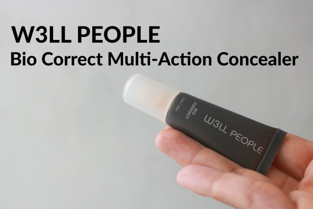 Clean Beauty Makeup Review featuring W3LL People Bio Correct Multi Action Concealer in shade Fair.