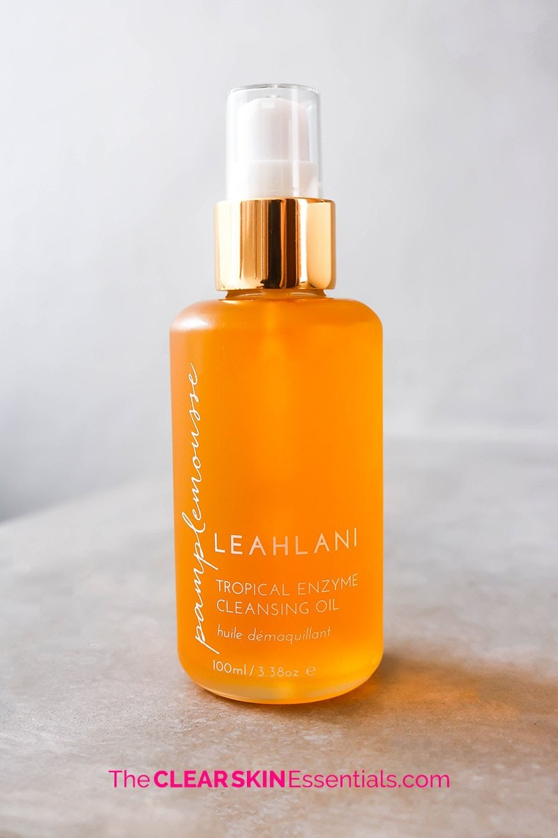 Leahlani Skincare Pamplemousse Tropical Enzyme Cleansing Oil.