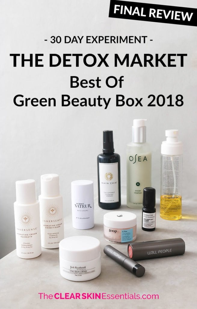 Review of The Detox Market Best Of Green Beauty Box 2018