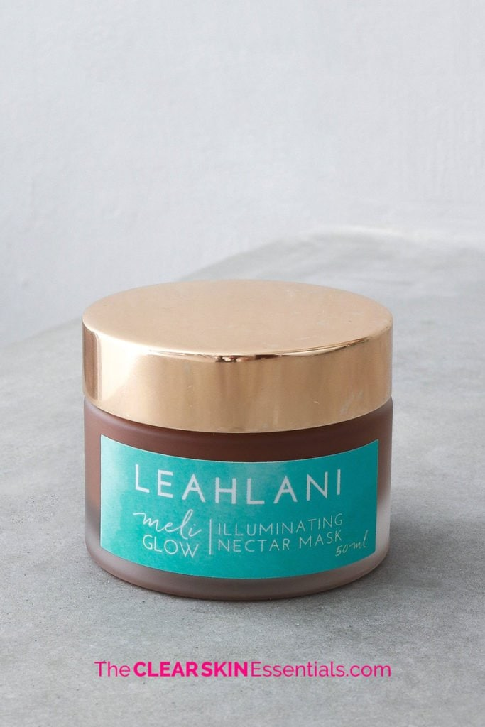 Meli Glow Illuminating Nectar Mask from the Leahlani Skincare review.