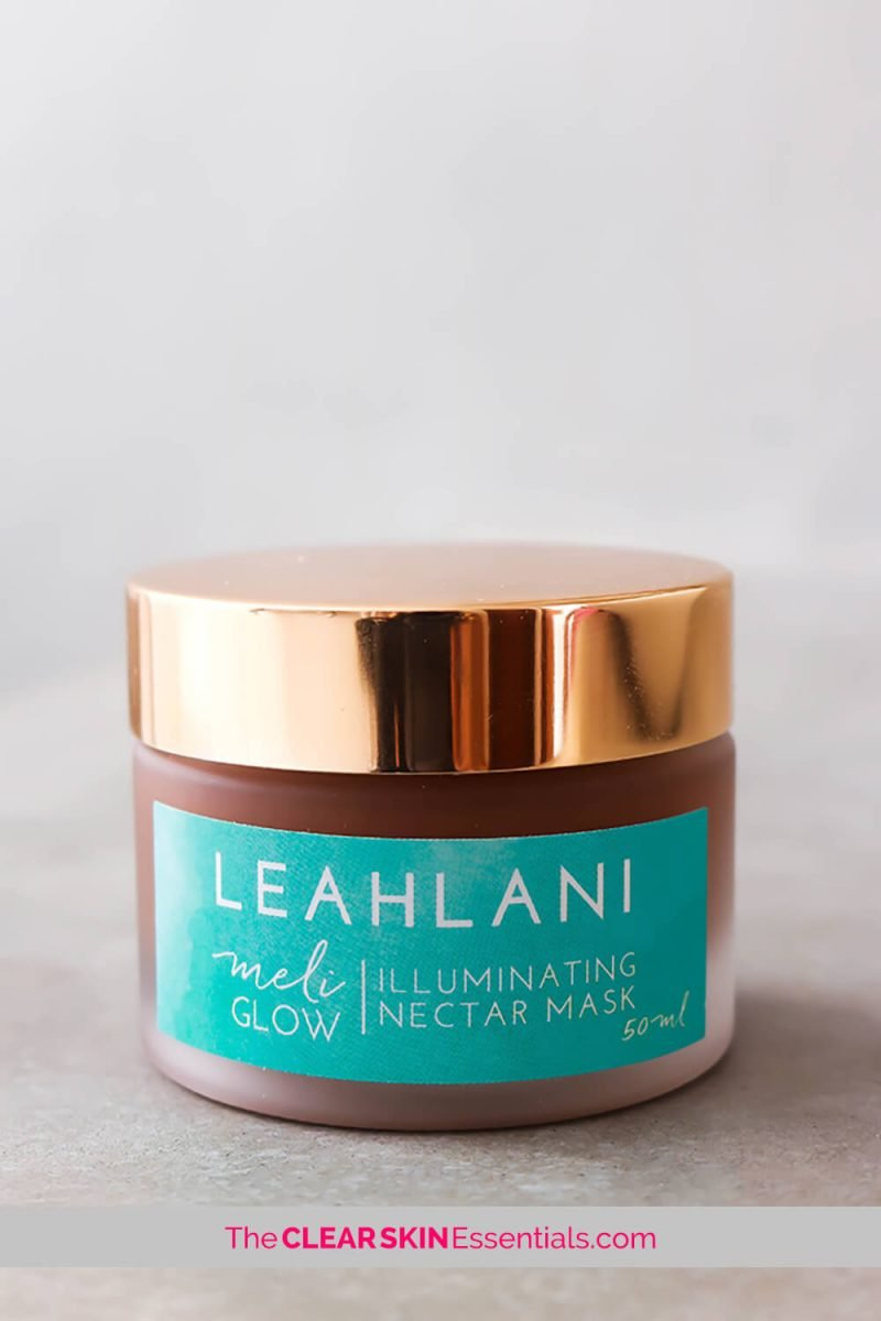 Leahlani Skincare Meli Glow Nect Mask is all natural, hydrating, brightening, exfoliating, and skin smoothing.