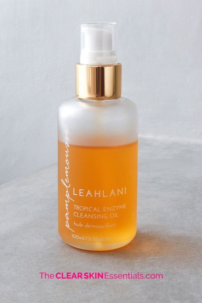 Pamplemousse Tropical Enzyme Cleansing Oil from the Leahlani Skincare review.
