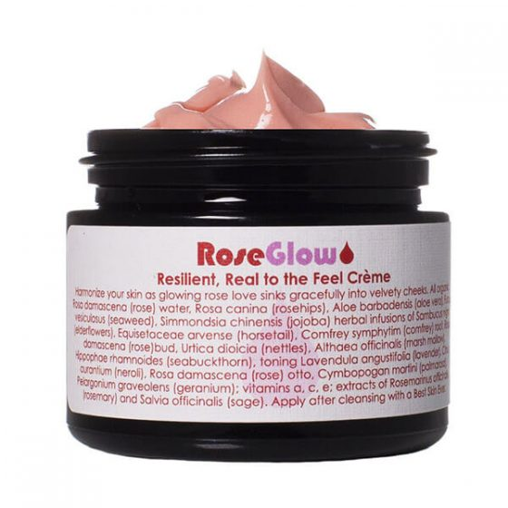Living Libations Rose Glow Creme is a lightweight face moisturizer that hydrates and soften the skin easing fine lines and texture