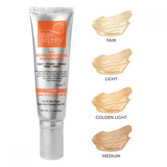 Suntegrity 5in1 Natural Moisturizing Face Sunscreen SPF30 Tinted (Swatches of all shades)
