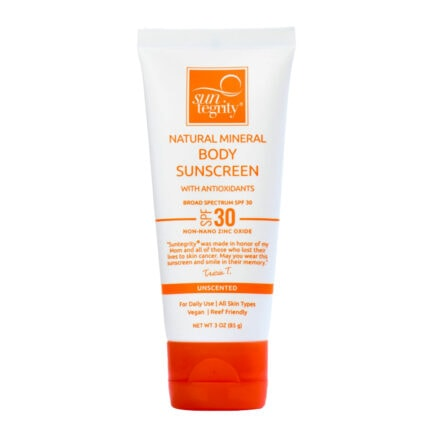 Suntegrity Sunscreen For Body unscented is a mineral sunscreen suitable for all skin types including sensitive skin