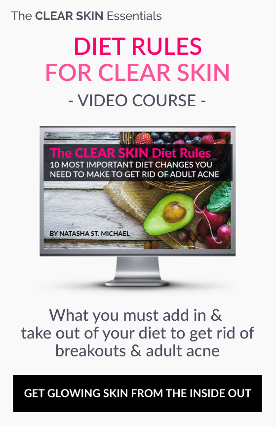 Video course on what to change in your diet to clear up acne