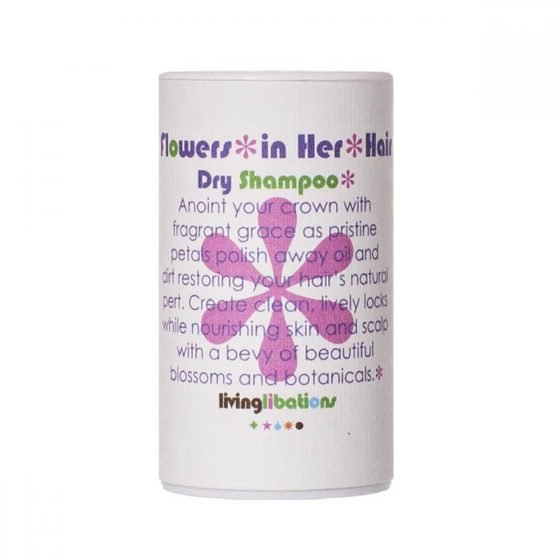 Living Libations Flowers In Her Hair Dry Shampoo soothes the scalp as it absorbs excess oils and it adds volume to the hair and keeps it fresh.
