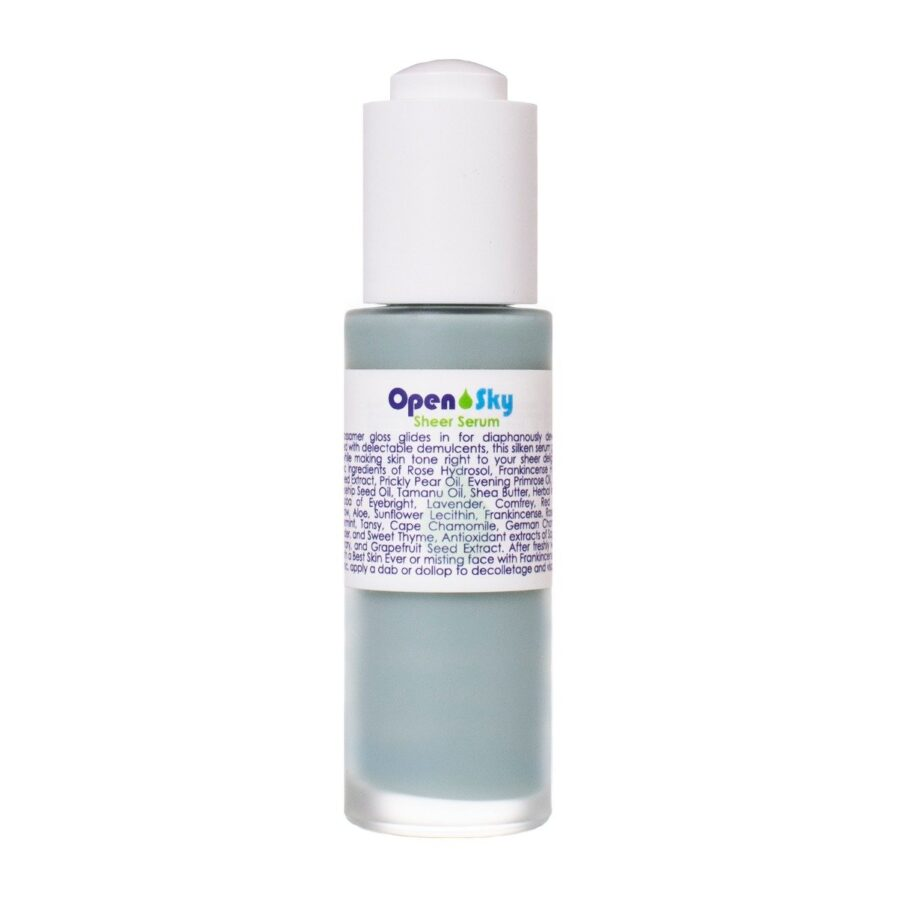 Living Libations Open Sky Sheer Serum 30ml a hydration serum for soft, dewy, even skin tone