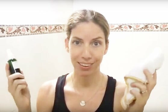 Video demo, instructions, and product recommendations for oil cleansing acne prone skin