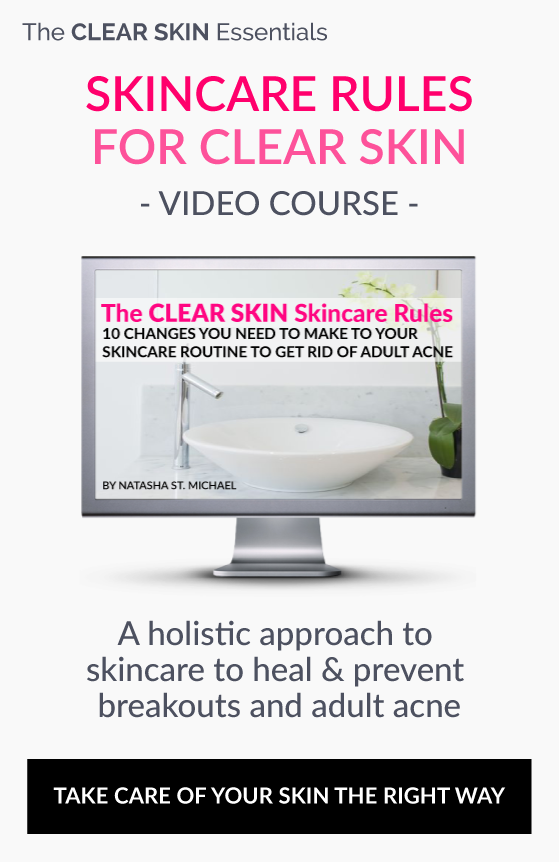 Video course on best skincare routine for acne