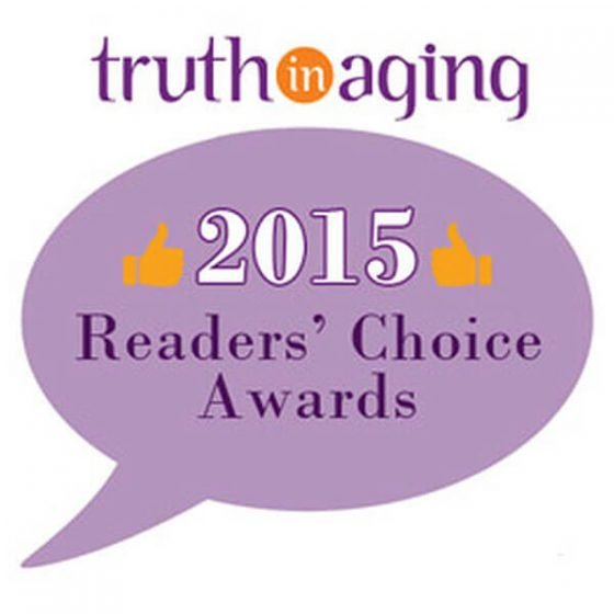 Suntegrity 5in1 Tinted Face Sunscreen was awarded Truth in Aging 2015 Reader's Choice Award