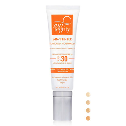 Shop Suntegrity 5 in 1 Tinted Face Sunscreen broad spectrum spf 30 BB cream