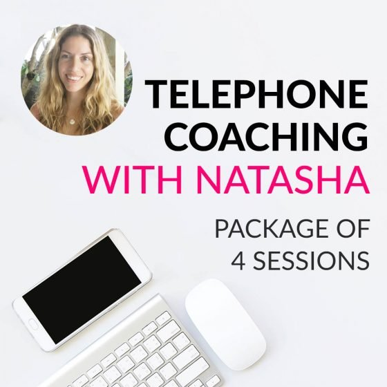 4 session telephone coaching package with Natasha St. Michael to improve your diet and skin care routine to clear up breakouts and acne.