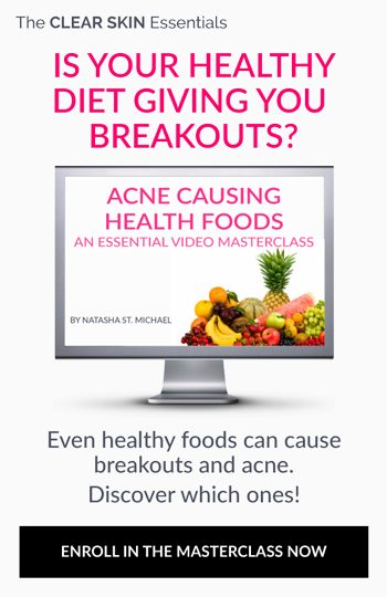 Video course on what health foods, superfoods, and supplements cause acne