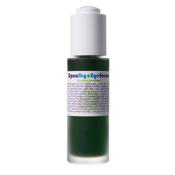 Living Libations Open Eye Sky Serum for tired, lined and puffy eyes.