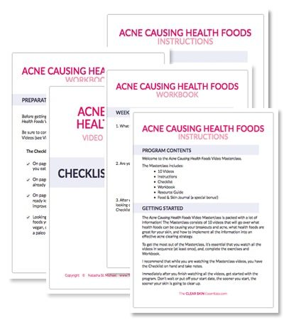 Acne Causing Health Foods Video Masterclass (course materials)