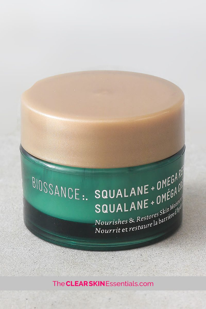 Biossance Squalane + Omega Repair Cream review for dry, dehydrated, irritated skin
