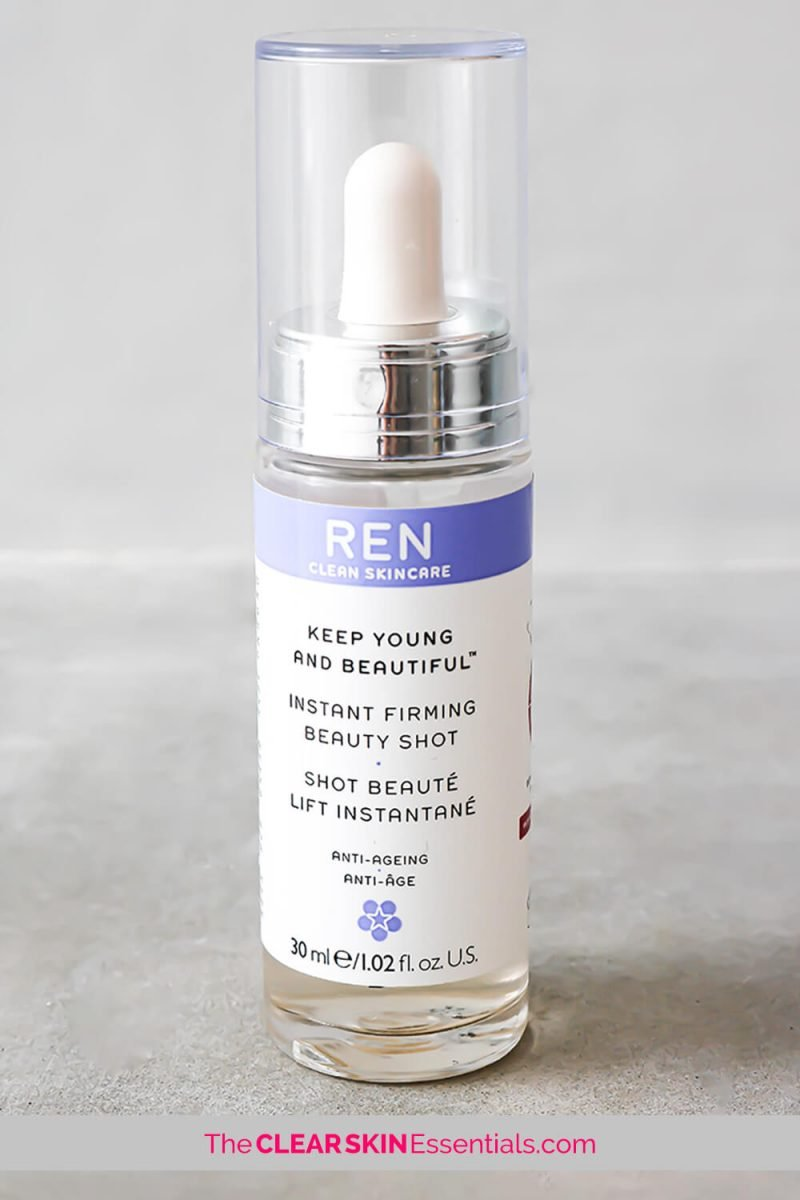 REN Instant Firming Beauty Shot review for firming and hydrating sagging and maturing skin