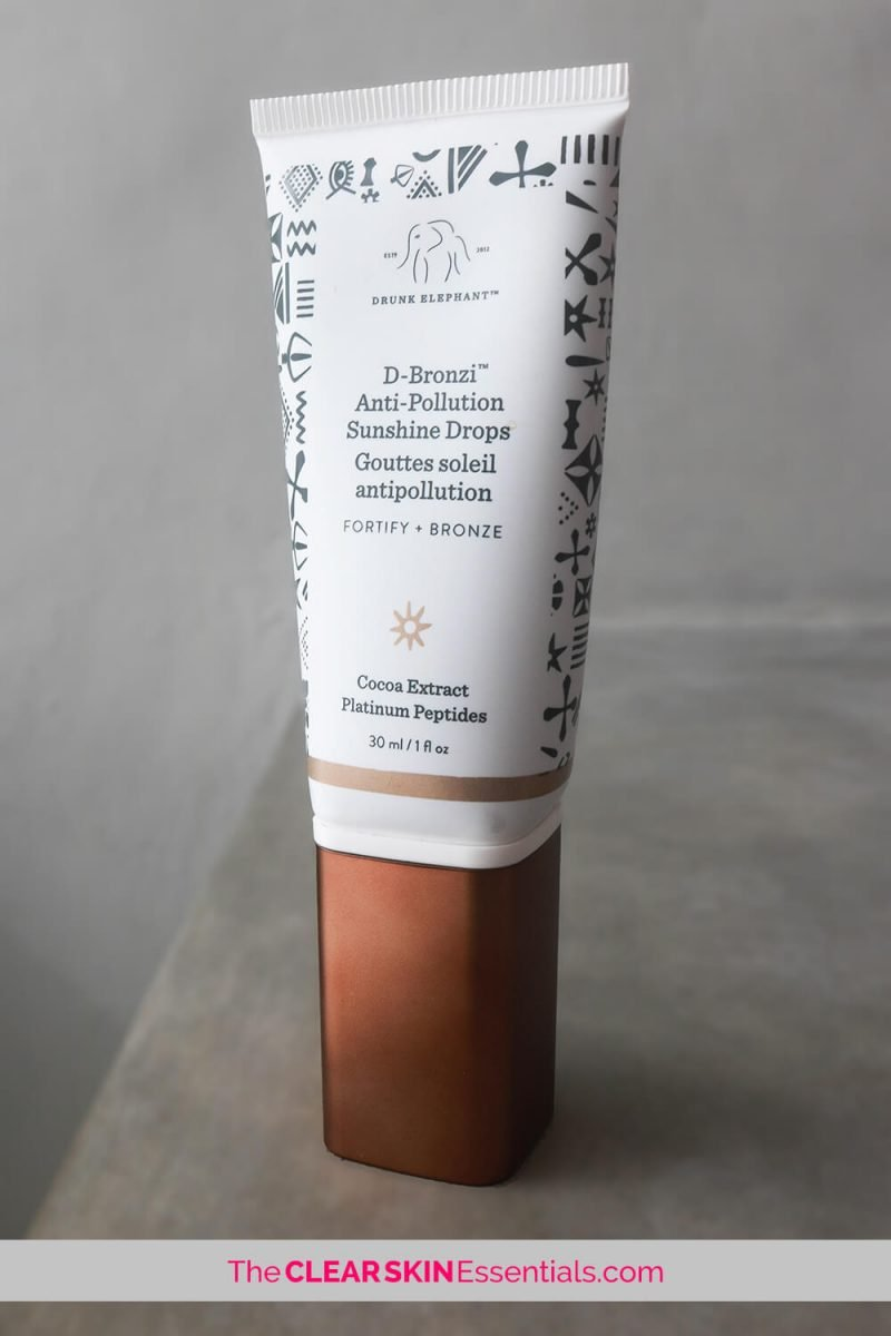 Drunk Elephant D-Bronzi review adding a bronzy glow to your skincare products