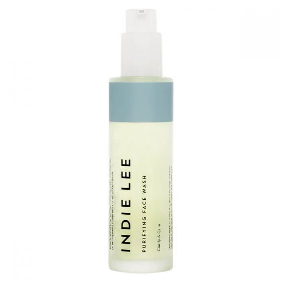 Indie Lee Purifying Face Wash to calm and clarify the skin and dissolve excess sebum.