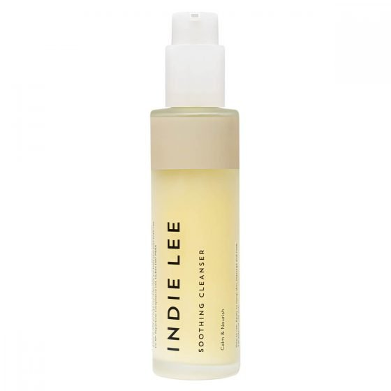 Indie Lee Soothing Cleanser is a mild, moisturizing cleanser to sooth and nourish sensitive skin.