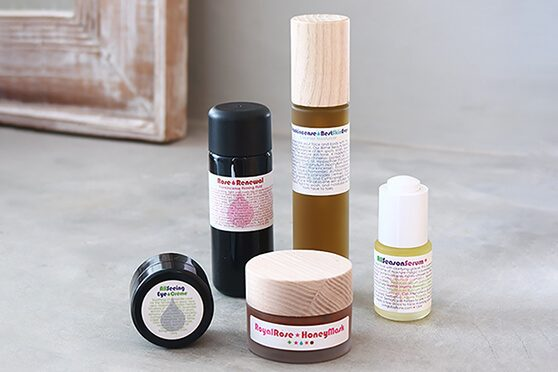 Living Libations reviews of Frankincense Best Skin Ever, Rose Renewal Frankincense Firming Fluid, All Season Serum, All Seeing Eye Creme, Royal Rose Honey Mask