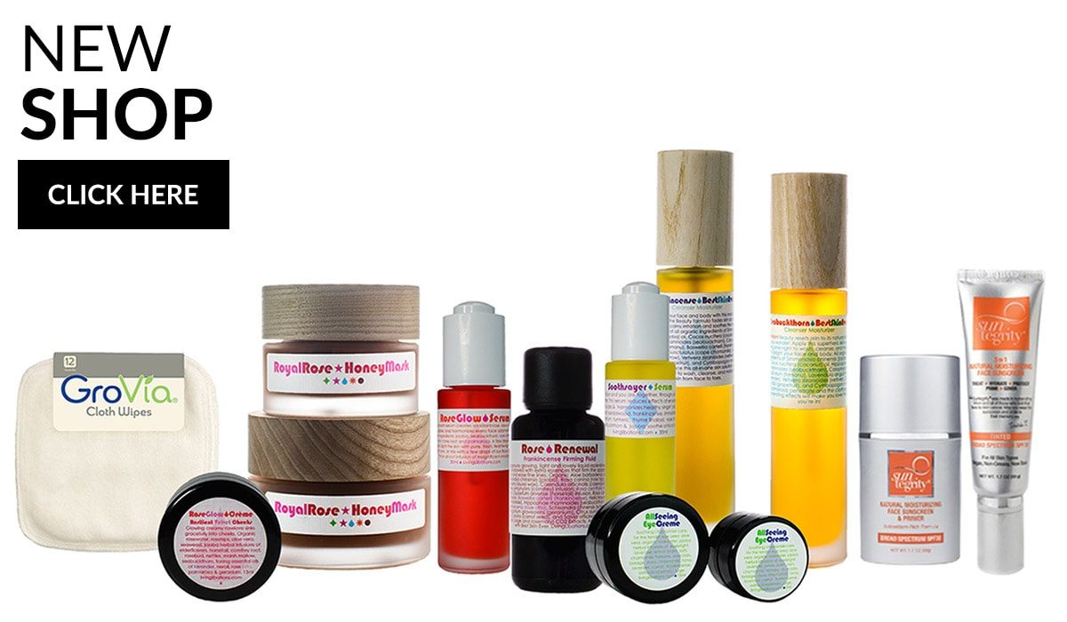 The CLEAR SKIN Essentials online shop showcasing natural skin care and clean beauty products