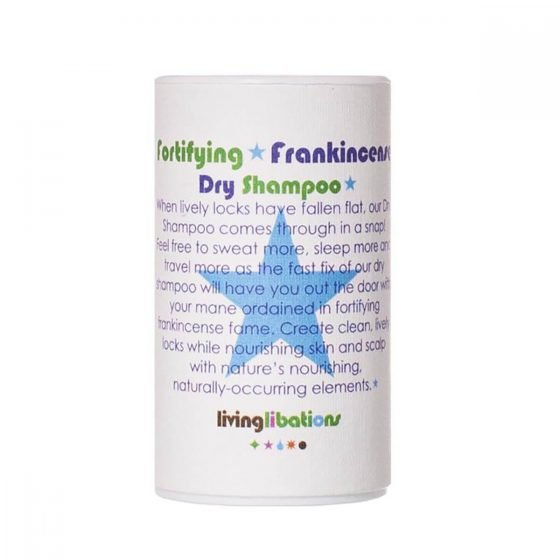 Living Libations Frankincense Dry Shampoo is an all natural dry shampoo that soothes and balances the scalp as it absorbs excess oil and refreshes hair styles.