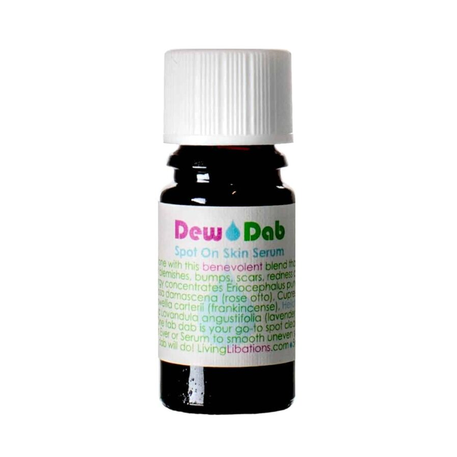 Living Libations DewDab for treating fine lines, hyperpigmentation, acne marks, sun spots and melasma.