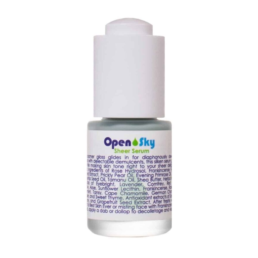 Living Libations Open Sky Sheer Serum is a hydrating and moisturizing facial serum for softer, smoother skin.
