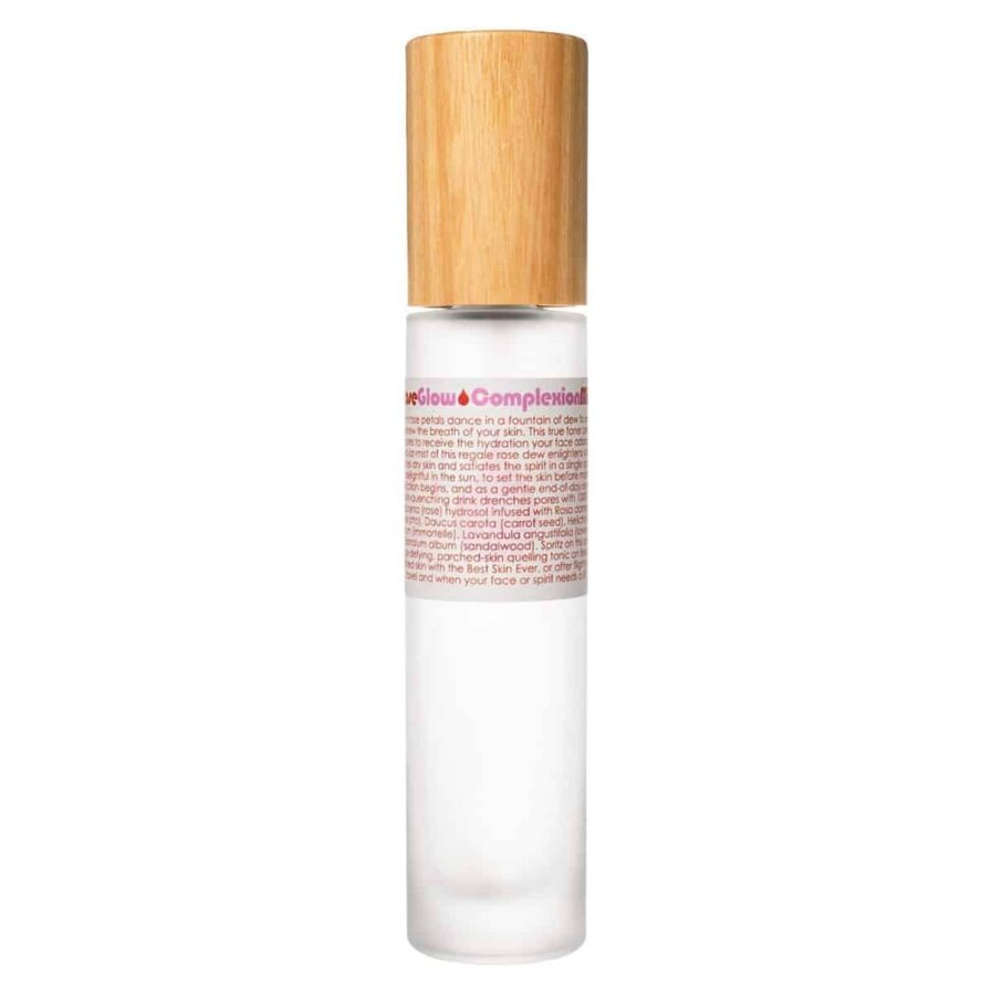 Living Libation Rose Glow Complexion Mist (50ml) to brighten and revive dehydrated skin.
