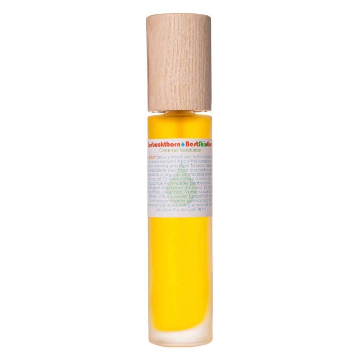 Living Libations Seabuckthorn Best Skin Ever an all in one face moisturizer, oil cleanser and body oil.