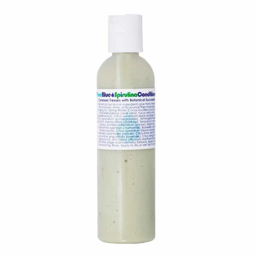 Living Libations True Blue Spirulina Conditioner is a lightweight all natural hair conditioner that adds volume, bounce and nourishment to dry, damaged, lifeless hair.