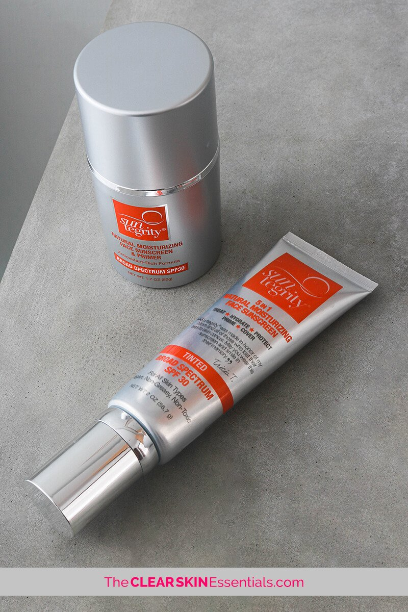 Review of Suntegrity 5 in 1 vs Natural Moisturizing Face Sunscreen including video demo and swatches
