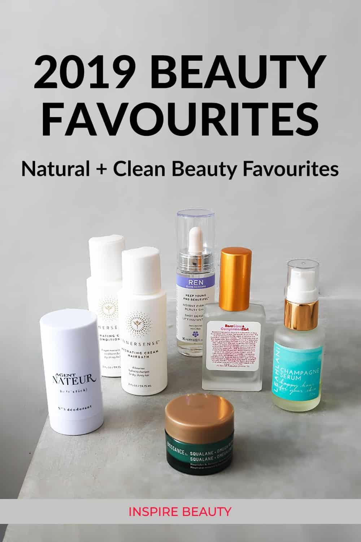 2019 clean beauty favourites featuring Innersense Organic Beauty, Living Libations, Agent Nateur, REN, Leahlani, Biossance