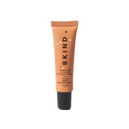 BKIND Lip Balm Berries moisturizes and hydrates dry chapped lips and has a glossy finish.